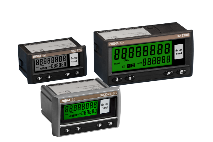 Intrinsically safe externally powered rate totaliser