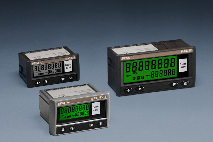 Pulse input Externally powered rate totalisers